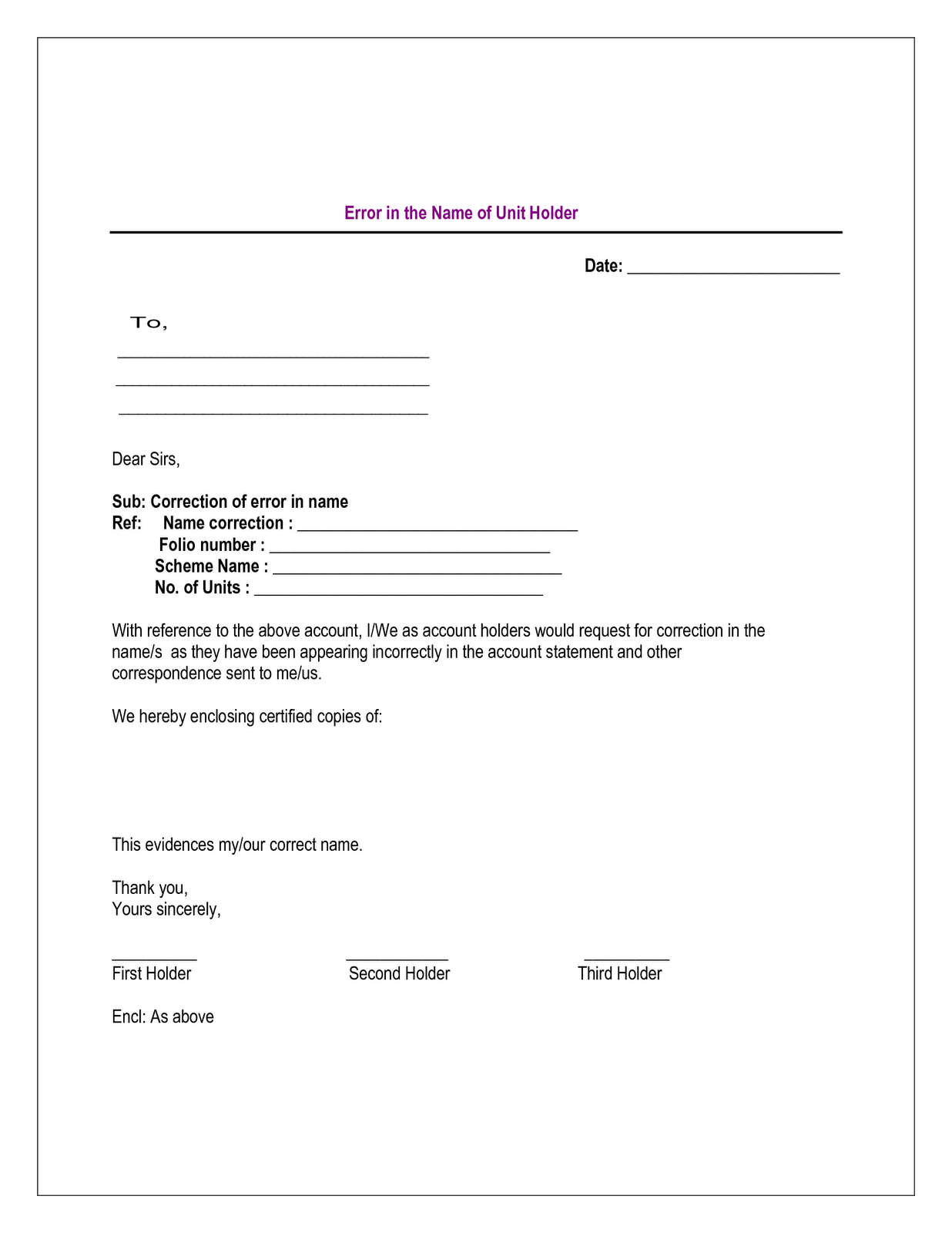 Plot Booking Cancellation Letter Format  Home Design Idea