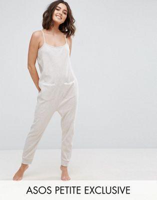 f68589246c1b ASOS PETITE LOUNGE Oatmeal Marl Jersey Jumpsuit