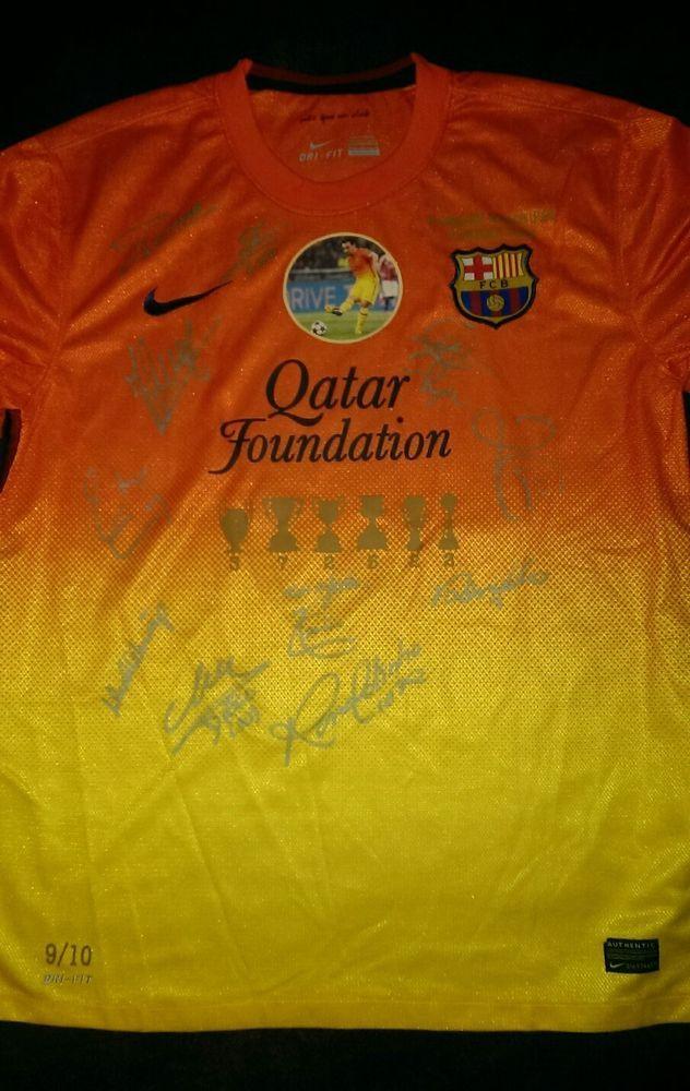55d224bc Barcelona signed legends Xavi 8 shirt 2012/13. No 9 of 10 | Sports ...