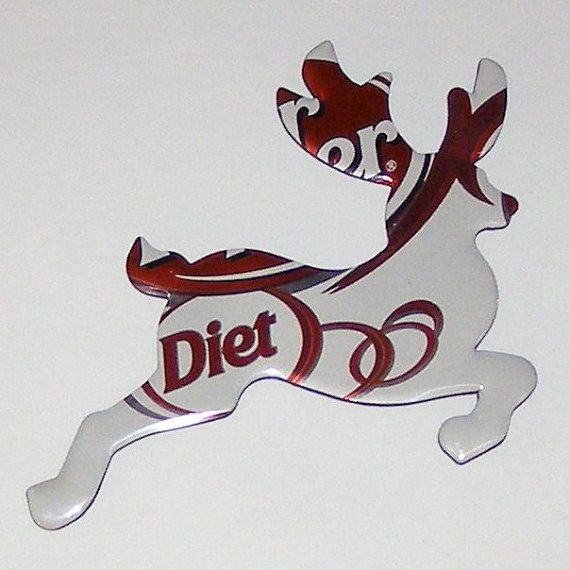 Diet Dr Pepper Soda Pop Can Flower Magnet