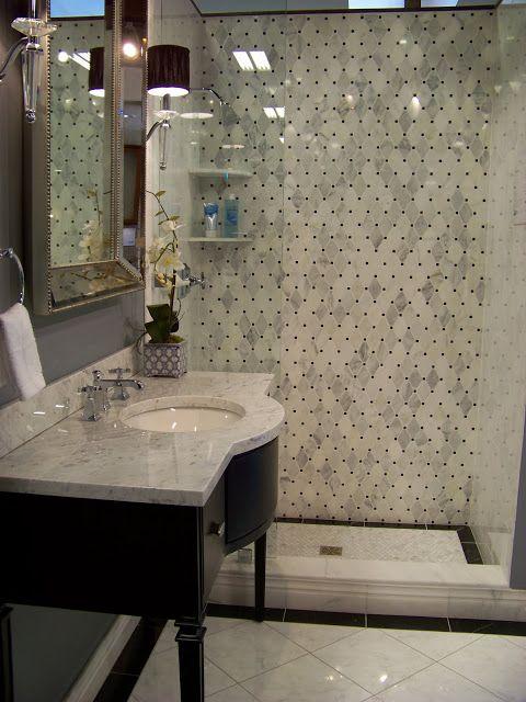 The Floor Is A Ceramic Tile Called Carrara Gris From The Tile Shop - Carrara gris porcelain tile