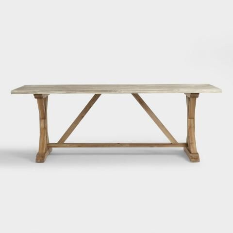 Two Tone Wood San Remo Outdoor Trestle Dining Table Trestle