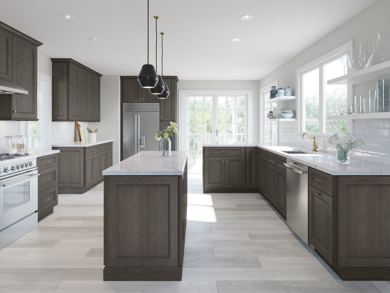 Providence Natural Grey Ready To Assemble Kitchen Cabinets Kitchen Cabinets Espresso Kitchen Cabinets Kitchen Set Cabinet Assembled Kitchen Cabinets