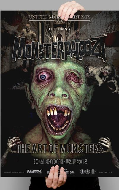 We are excited to announce that Monsterpalooza will have a presence at this years UMAexpo.  Want to see your creations under the Monsterpalooza banner?  Eliot Brodsky, the Monsterpalooza show's creator, would like to invite people to submit any monster related work of art that you have created to display within the Monsterpalooza area at the UMAexpo show.  Please email pictures of your work to Eliot at therubberroom101@aol.com no later than 28th of March.