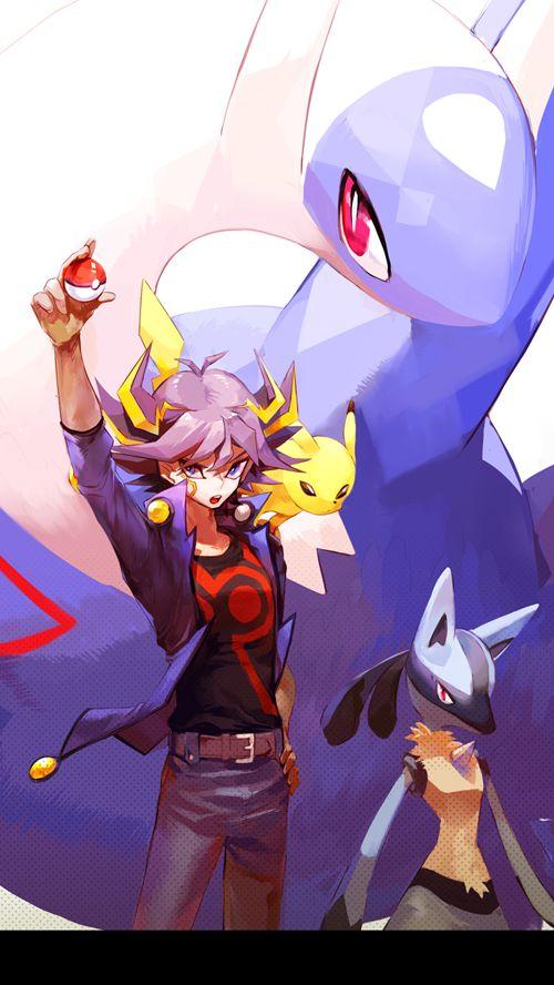 Yu-Gi-Oh and pokemon crossover, pixiv #Pokemon #YuGiOh #Nintendo
