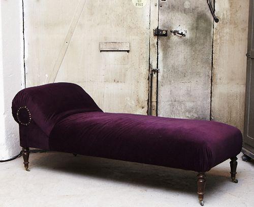 Purple Velour Chaise Longue Purple Furniture Purple Home Purple Decor