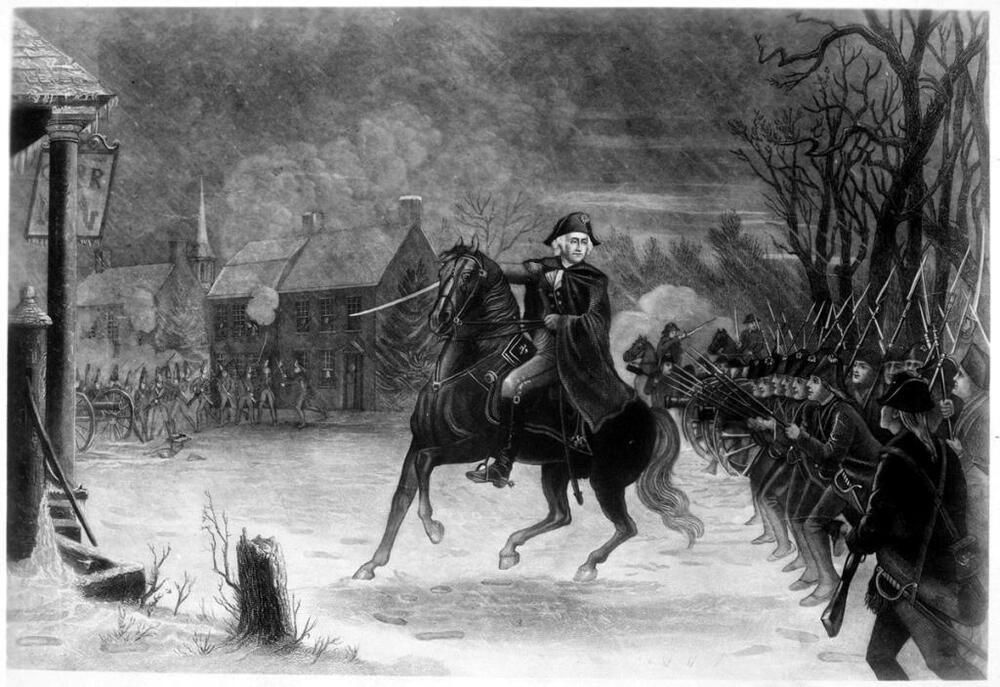 Details about Washington at the Battle of Trenton Edward
