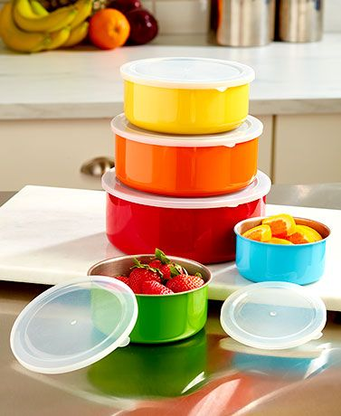 Plastic Decorative Bowls This Set Of 5 Stainless Steel Bowls With Lids Is A Great