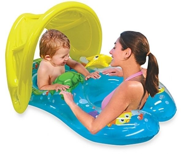 Mommy And Me Summer Beach Pool Sun Shade Canopy Baby Kids Adult Float Seat Smart