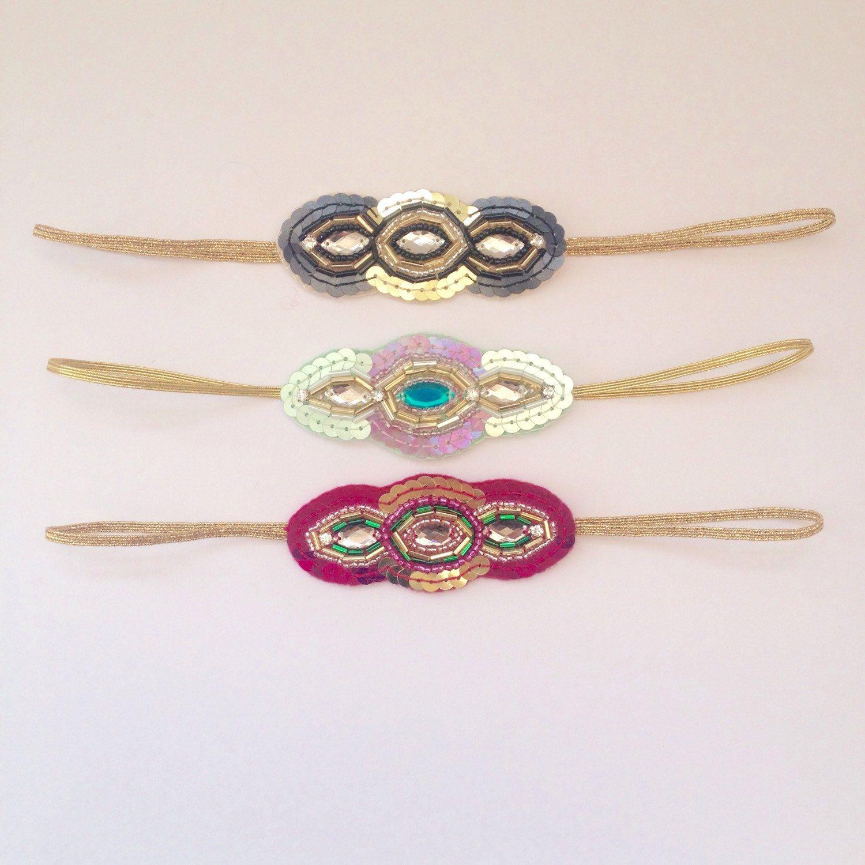 Beautiful hand beaded deco style headbands. Treat yourself!