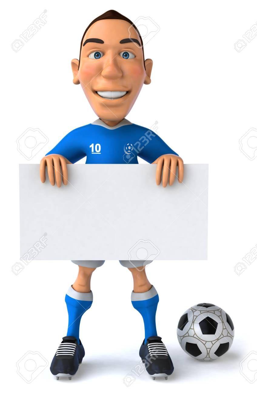 Cartoon Soccer Player Holding A Signboard Ad Soccer Cartoon Player Signboard Holding Photography Website Cartoon Soccer Players