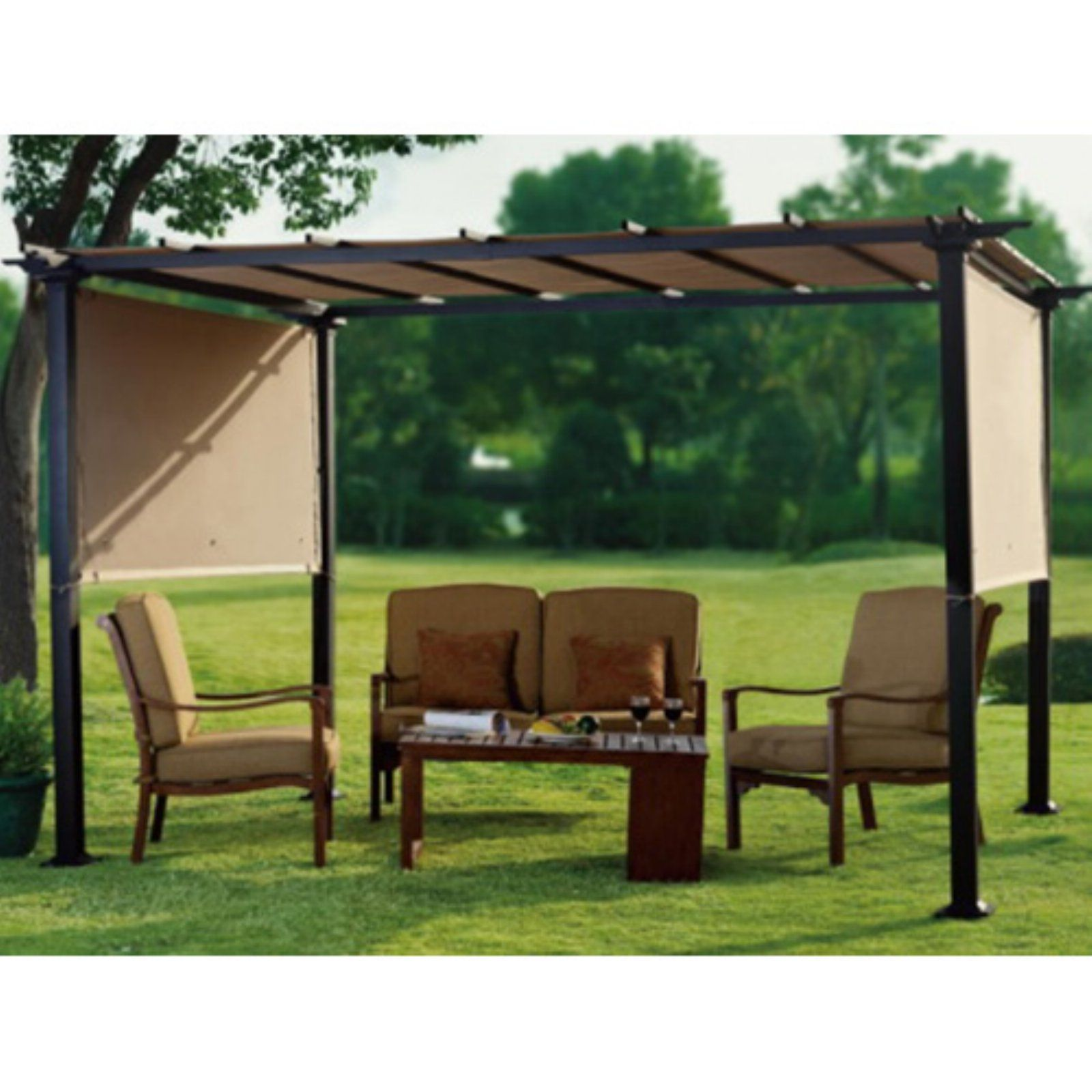 Sunjoy 10 X 8 Ft Replacement Canopy For L Pg080pst 2 Pogola Gazebo In 2020 Outdoor Pergola Pergola Pergola Plans