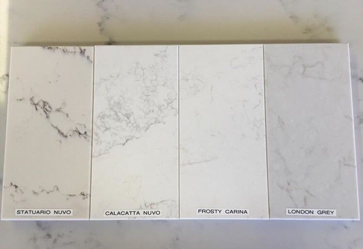 Caesarstone Benchtop We Recently Picked Our Kitchen Bench Top The Winner Is Frosty Carrina Can T Wait T Kitchen Marble Caesarstone Kitchen Kitchen Worktop