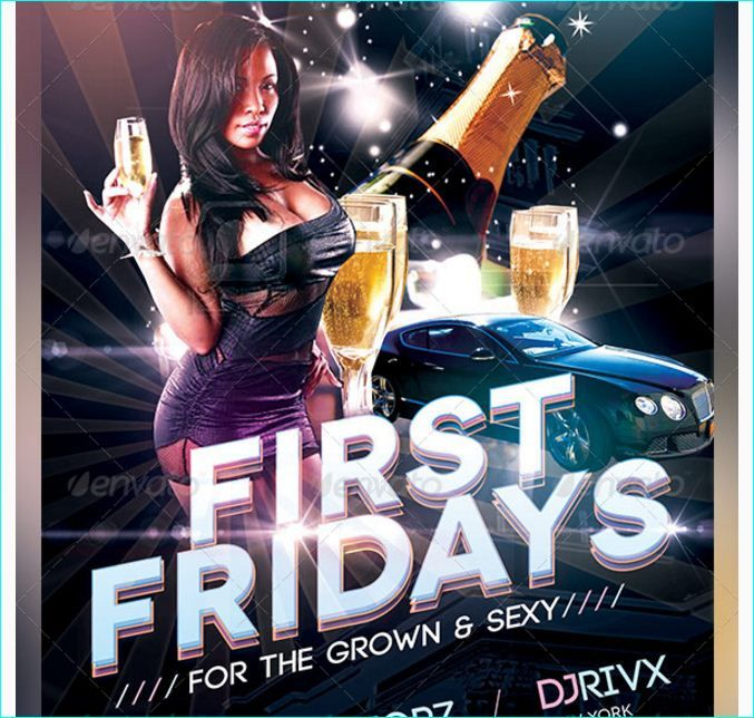 First Fridays Flyer Template  Party Flyer Templates For Clubs
