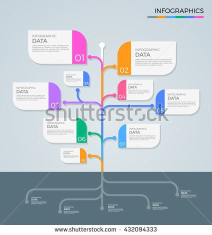 Business Infographics tree branch style Vector illustration