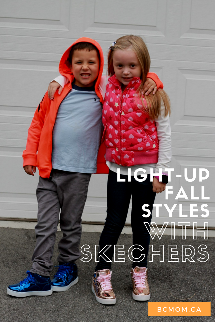 Rockin' The Fall Light Up Styles with Skechers British