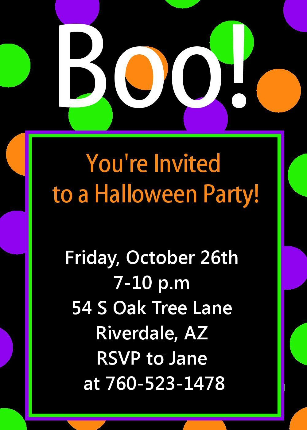 Free Printable Halloween Invitations – Free Printable Halloween Party Invitations Templates