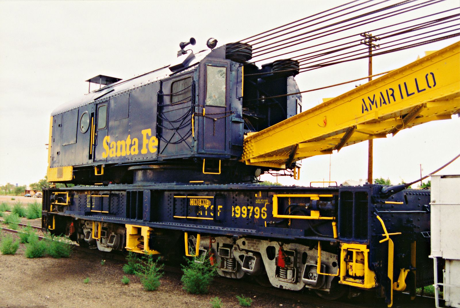 Santa Fes Amarillo Crane No 199796 Railroads Atsf Atchison
