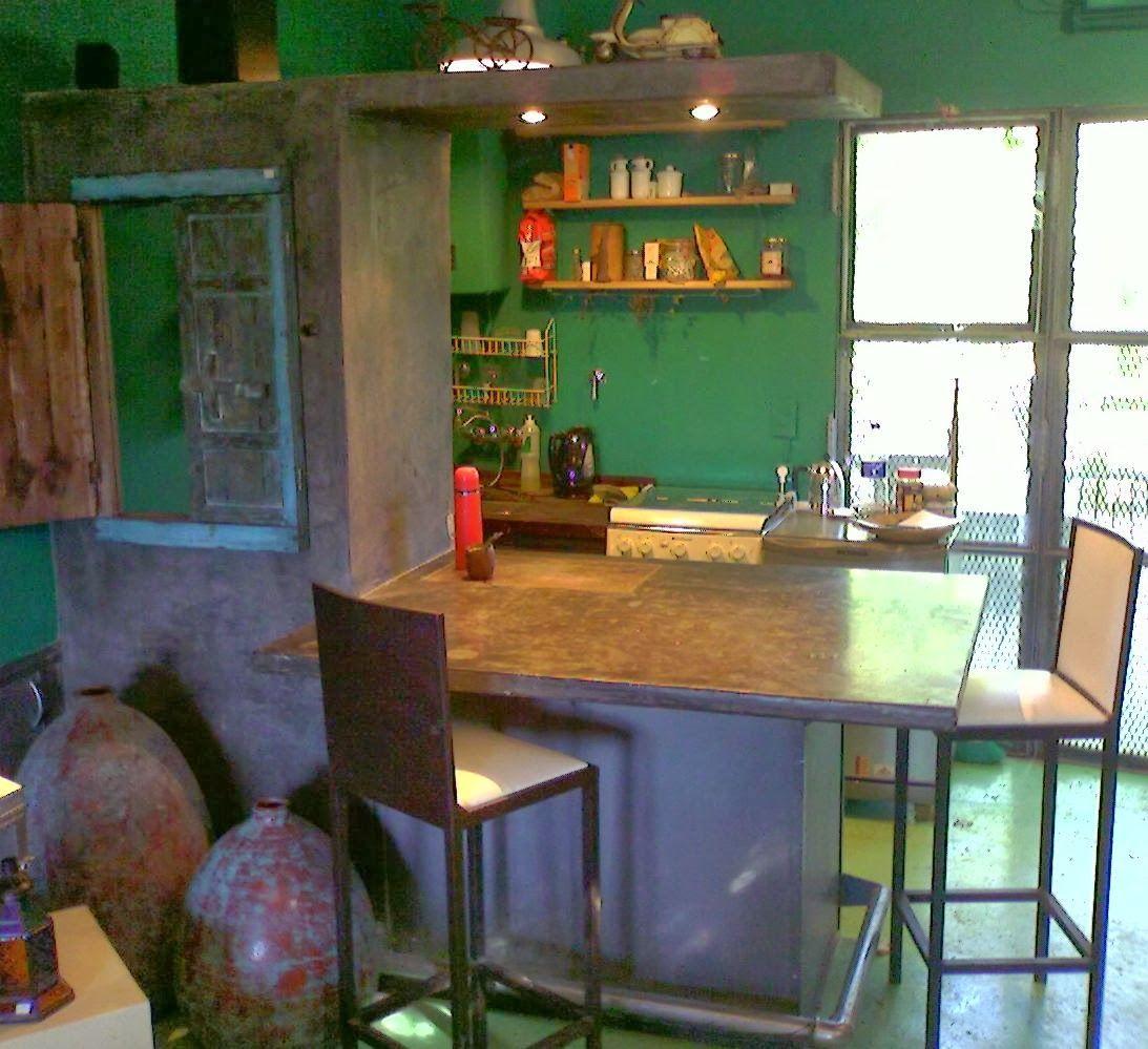 Construimos Muebles En Cemento En Modo Artesanal Para Interior Y  # Muebles Requejo