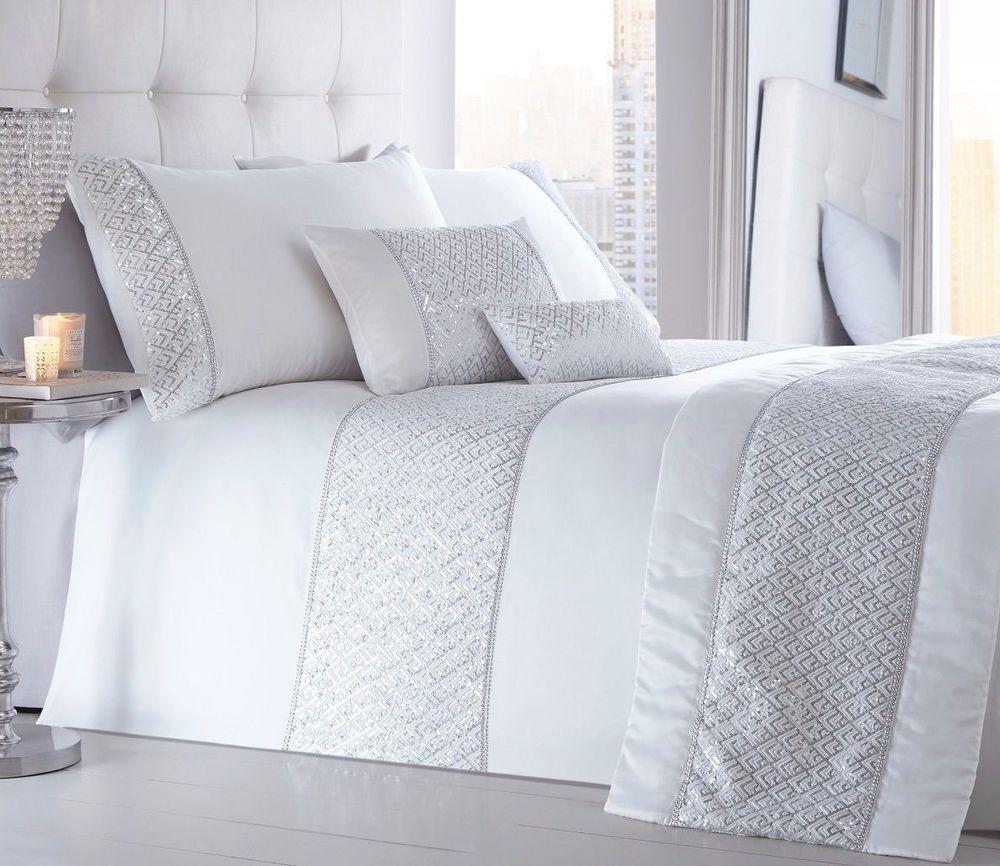 Shimmer Sequin Diamante Glamorous Duvet//Quilt Cover Set Bed Linen Bedding