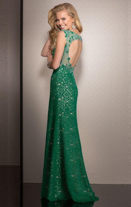 Emerald Lace Dress Formal