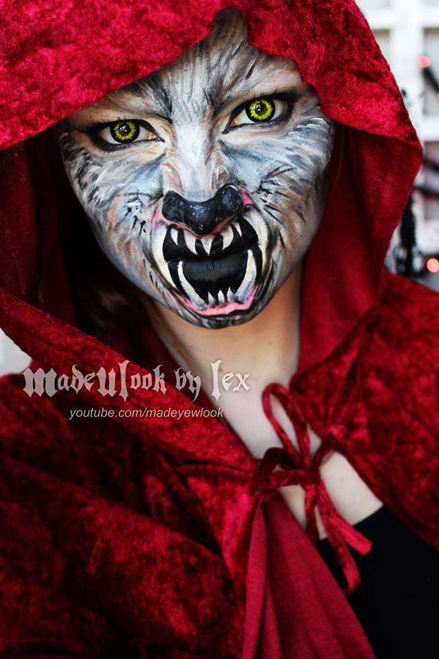 red riding hoodwolf makeup made u look by lex mz - Wolf Makeup Halloween