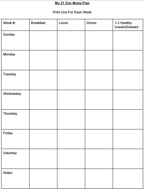 21 Day Calendar Template Doritrcatodos