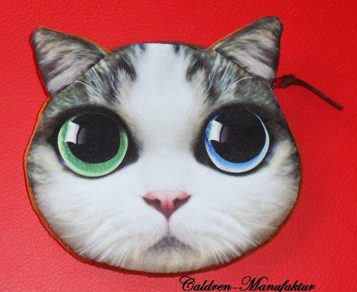 Geldbörsen & Portemonnaies - Geldbörse Geldbeutel Katze Luna - ein Designerstück von Caldren bei DaWanda