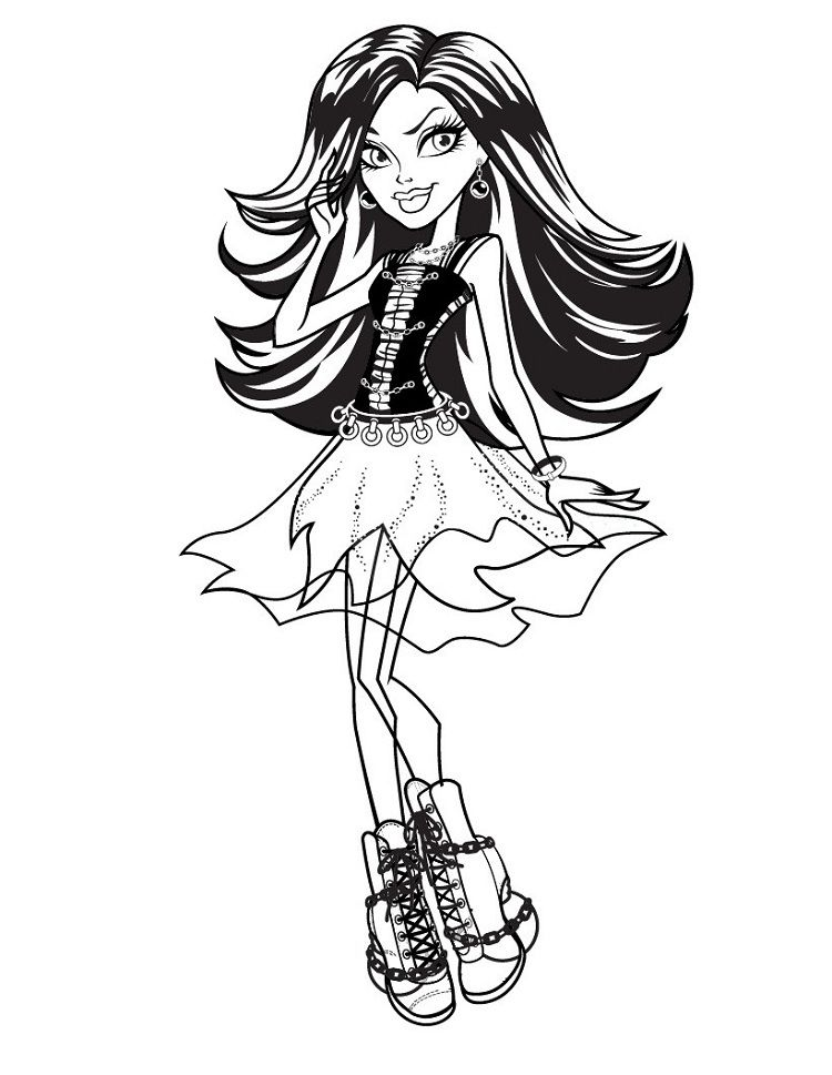 Monster High Coloring Pages Spectra Vondergeist Monster High Art Cute Coloring Pages Monster High