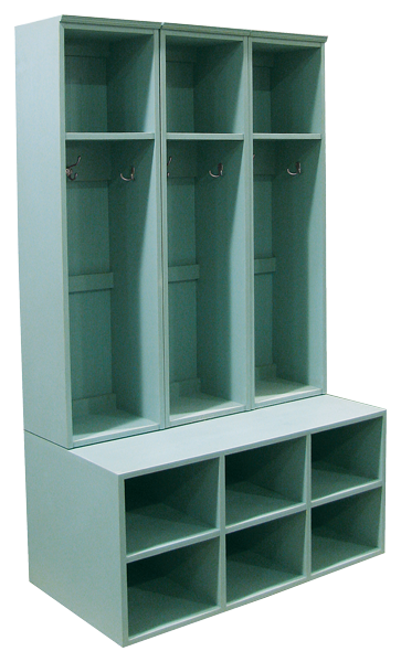 CUSTOM - 3-Locker & Cubby Bench Combo - Sawdust City LLC | Clean and ...