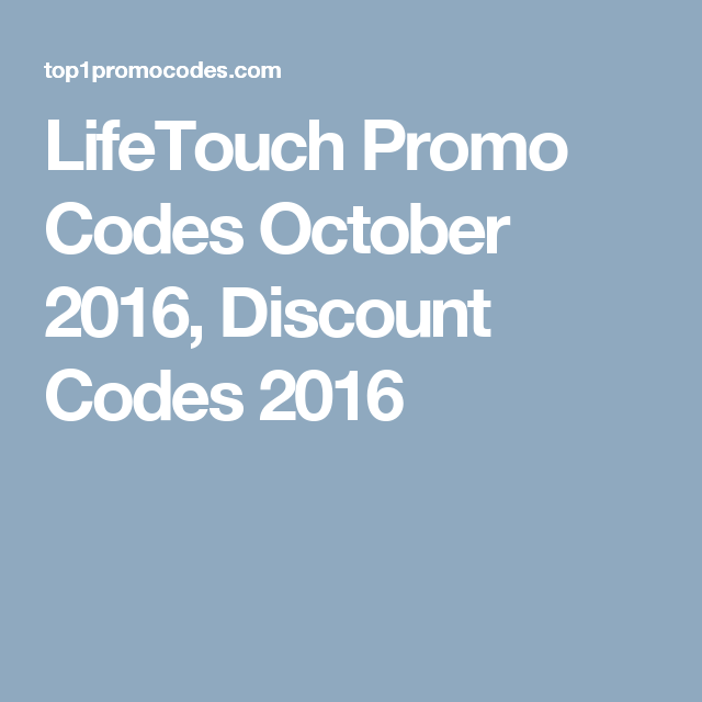 Lifetouch Promo Codes October 2016 Discount Codes 2016 Promo Codes Coding Discount Code