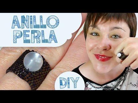 DIY ANILLO PERLA MIYUKI (RING WITH PEARL) ♥ Qué cositas - YouTube