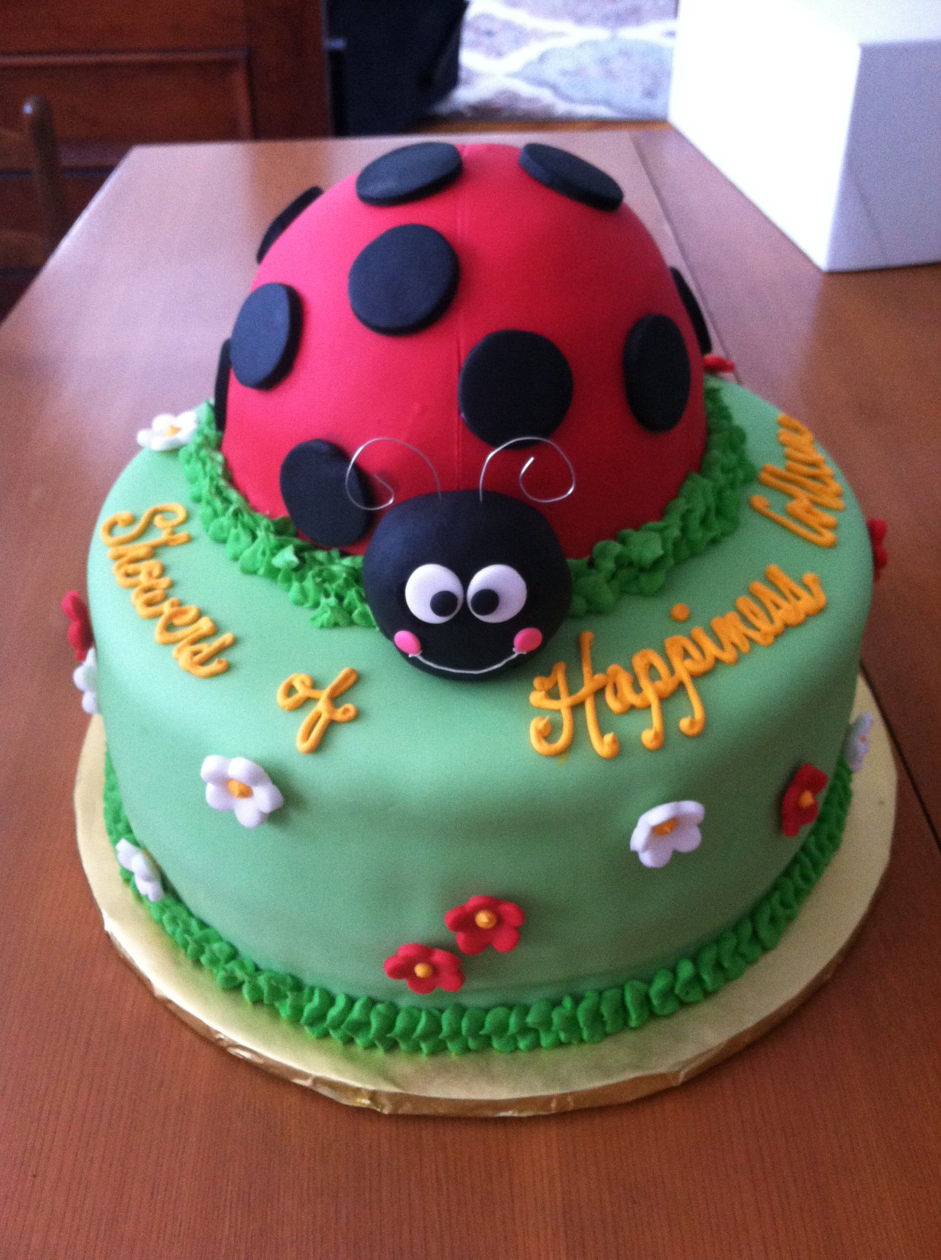 Red velvet ladybug baby shower cake Dessert Menu