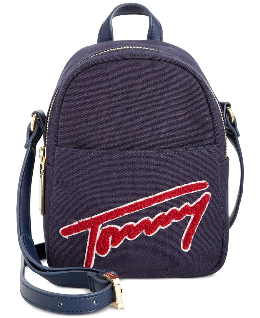 3f4f9dab Tommy Hilfiger Aurora Embellished Canvas Mini Backpack Crossbody ...