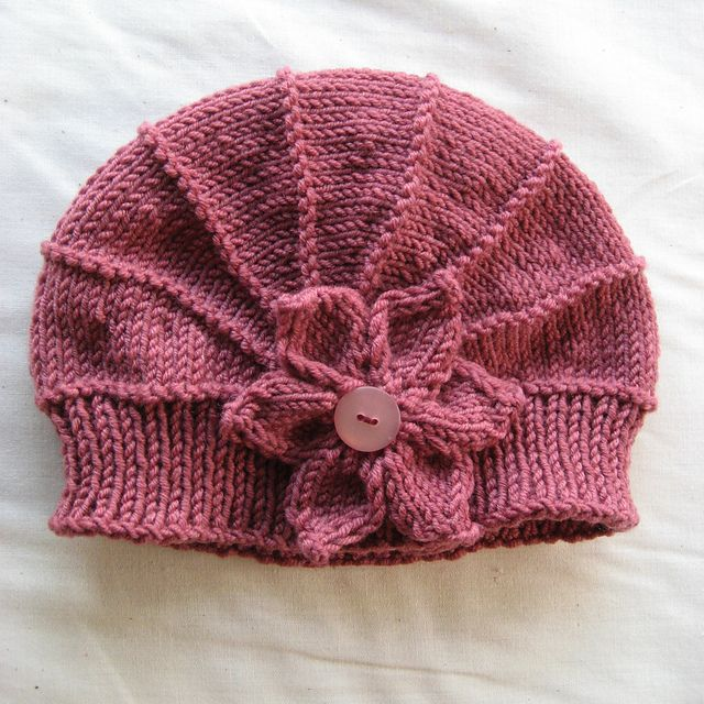 e573a4521c8 Pink hat with side flower. Ravelry  Project Gallery for Poppy pattern by  Justine Turner free pattern