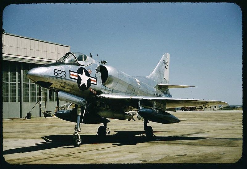 Douglas A4d 1 Skyhawk Plane 1950s Us Military Aircraft Fighter Aircraft Air Fighter