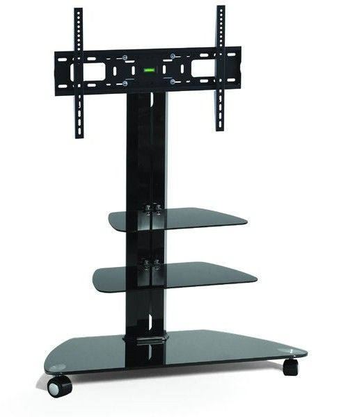 Tv Stand With Mount Wheels Entertainment Bar
