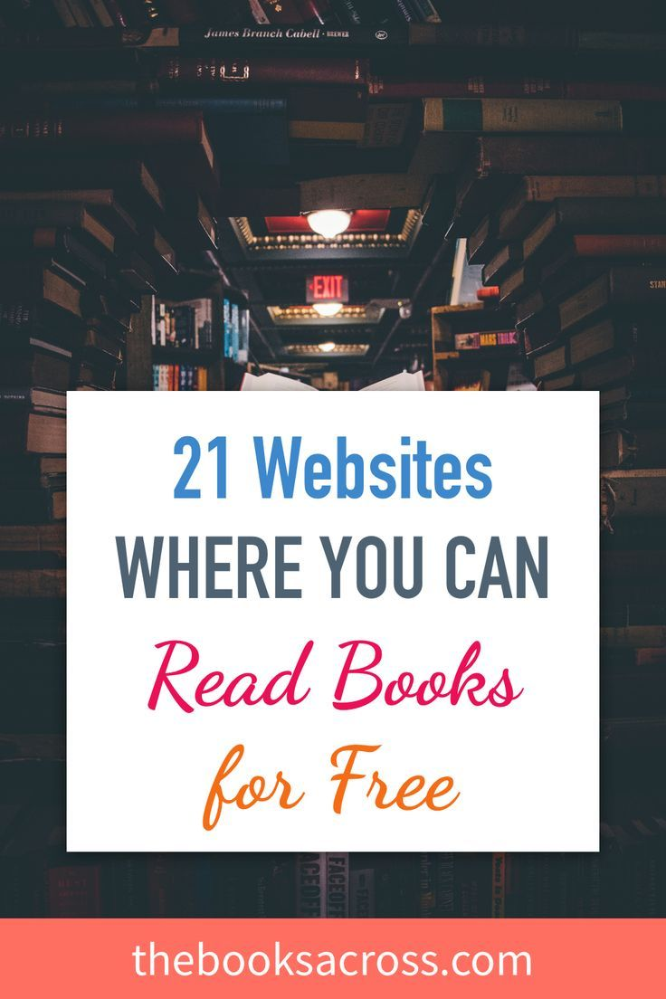 21 Websites Where You Can Read Books For Free - The Books Across #freereadingincsites