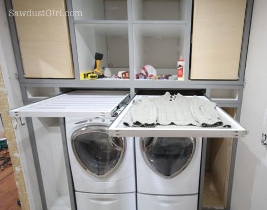 25 Ideas for Small Laundry Spaces Drying rack laundry Washers
