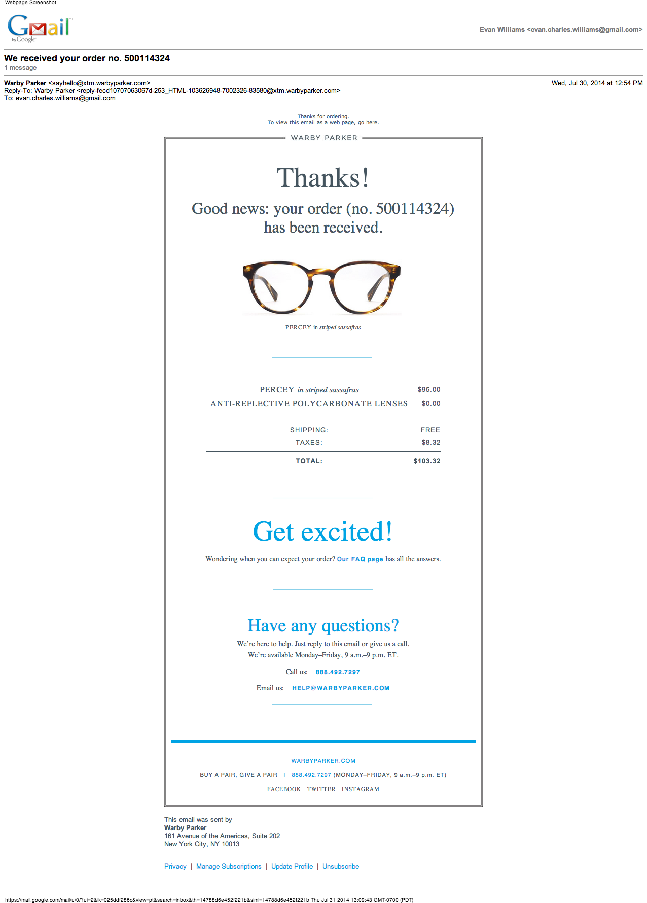 Warby Parker  Transactional    Warby Parker