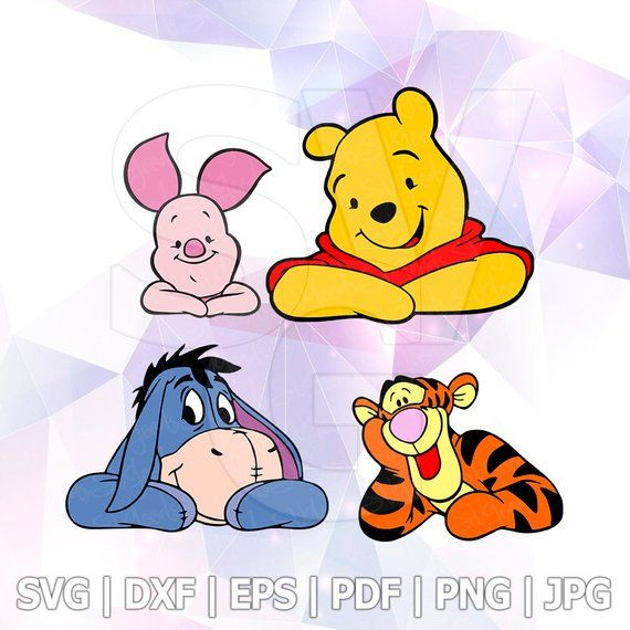 Winnie With Flower  Svg,Winnie quote Svg,Winnie Svg,Winnie the Pooh Svg,Tiger Clipart,Cut file for Cricut
