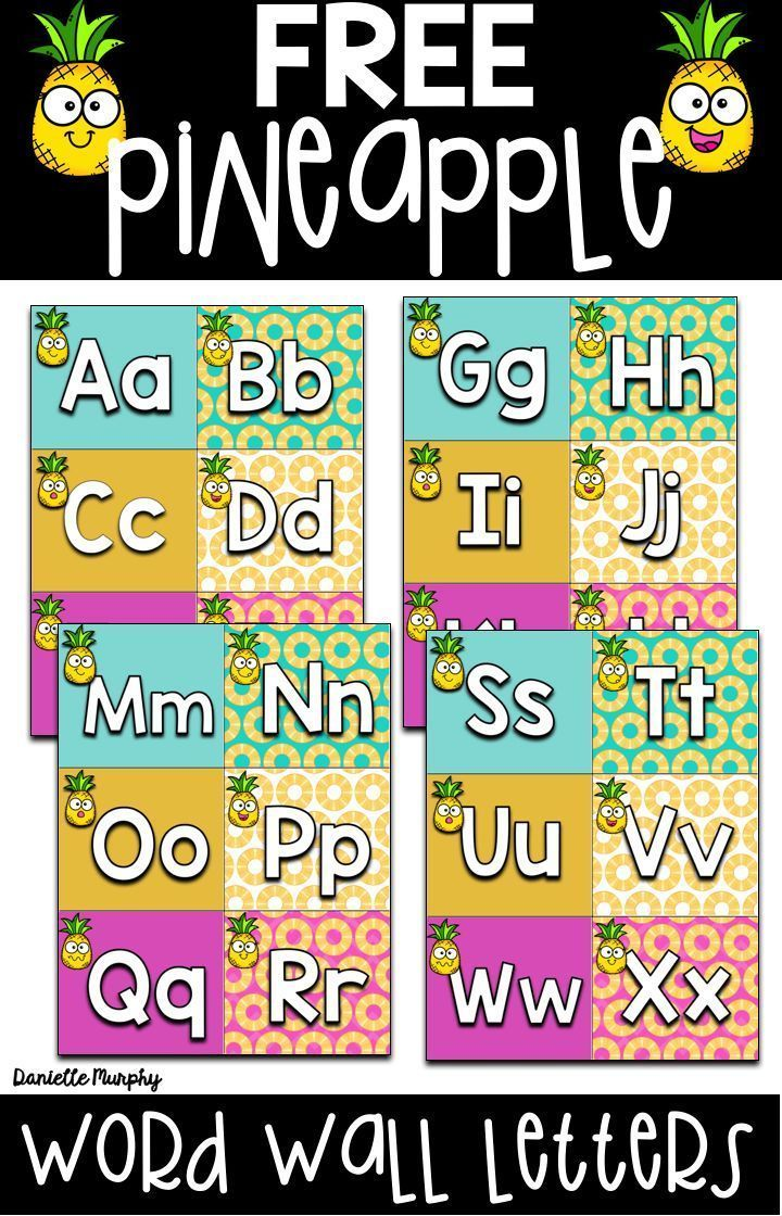 FREE Tropical Pineapple Decor Word Wall Headers | August/September ...