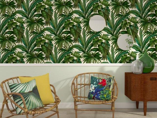 La Palme De La Deco Joli Place Papier Peint Tropical Papier Peint Deco Papier Peint
