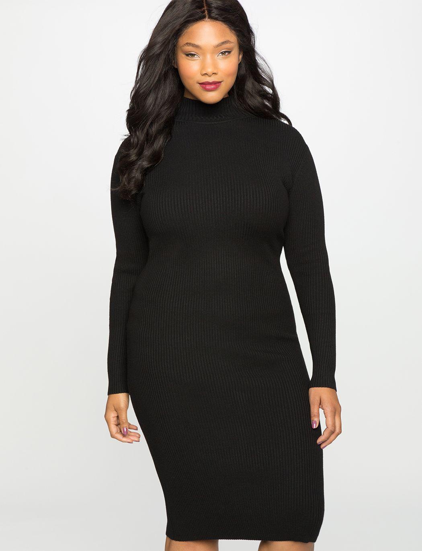 Jcpenney wedding dresses plus size  Mock Neck Sweater Dress Black  clothes  Pinterest  Mock neck