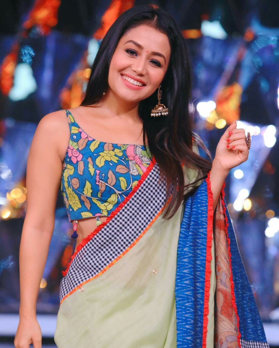 Neha Kakkar Neha Kakkar Dresses Saree Indian Bollywood Actress