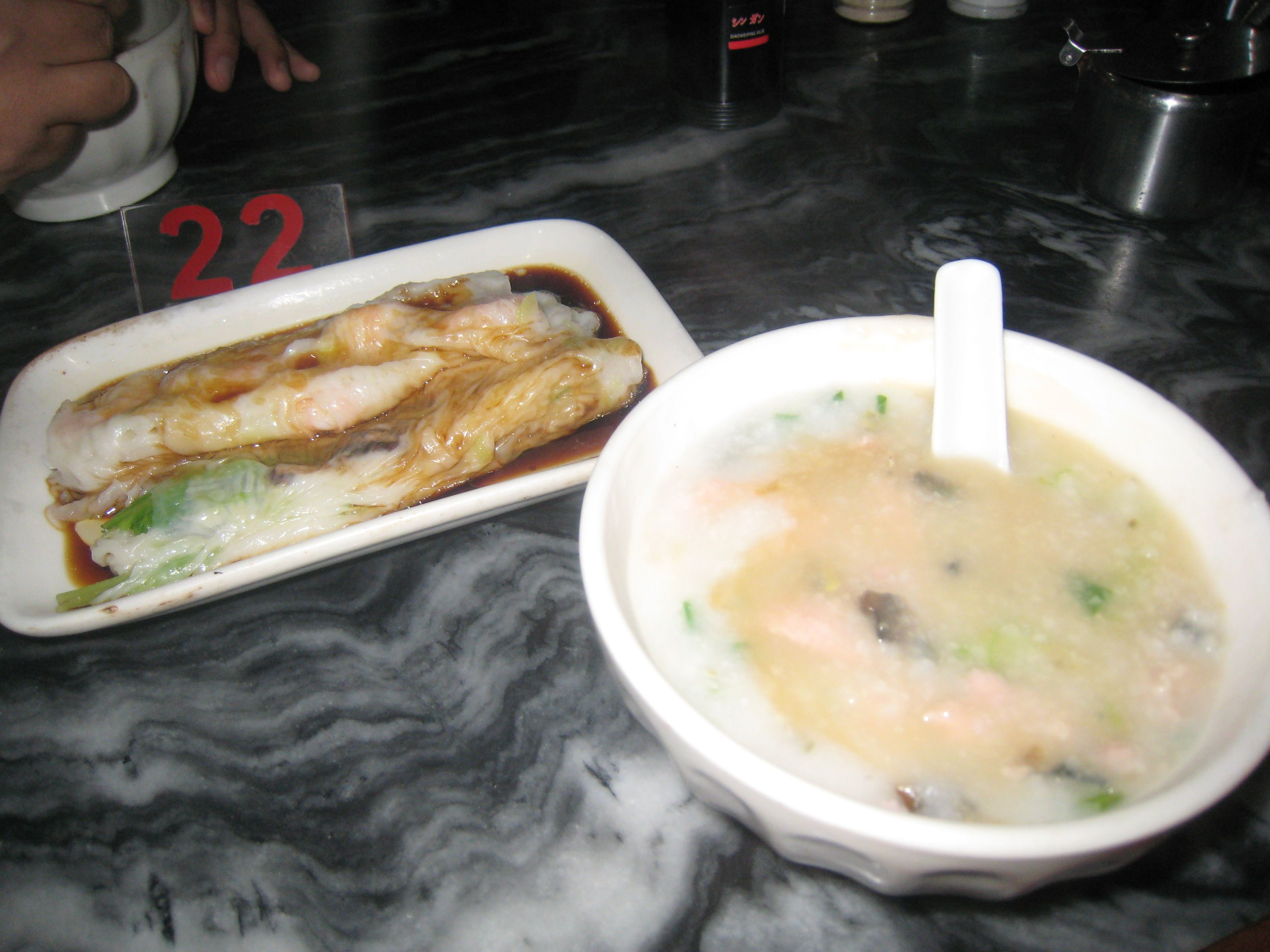 Breakfast at guangzhou :) really miss this.