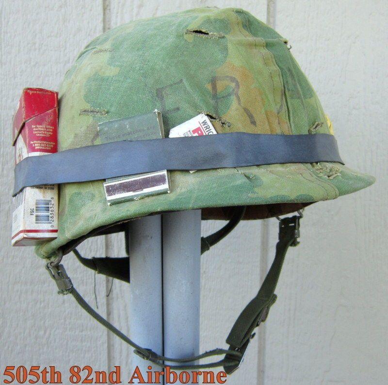 Vietnam M-1 USMC Helmet 1969 Liner 1969 sweatband Marine