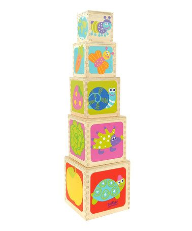 Take a look at this Eco-friendly Five-Piece Wooden Pyramid Set by Boikido on #zulily today!