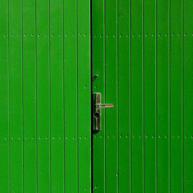 Door, green, architecture, minimalism