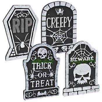 Bulk Plastic Tombstone Decorations at DollarTree Haunted - bulk halloween decorations